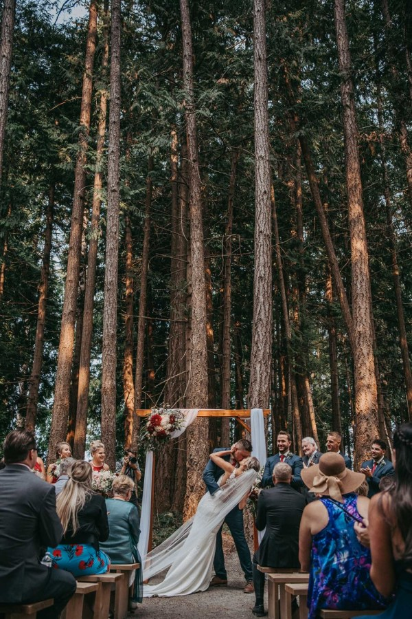 red forest wedding