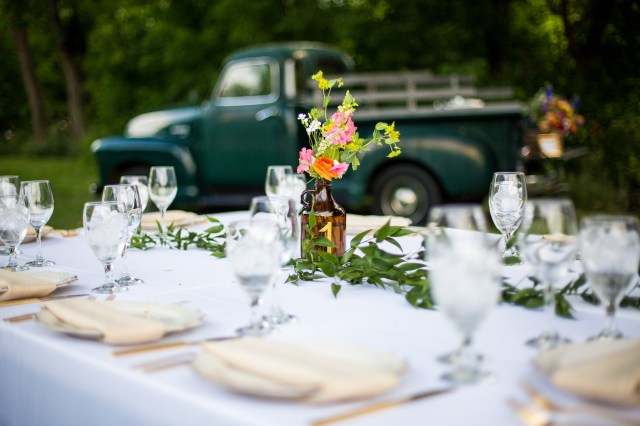 colorful summer wedding
