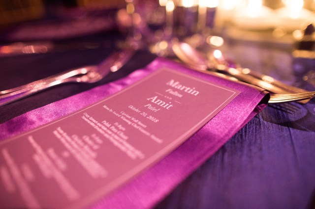 purple New York wedding