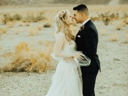 California desert wedding