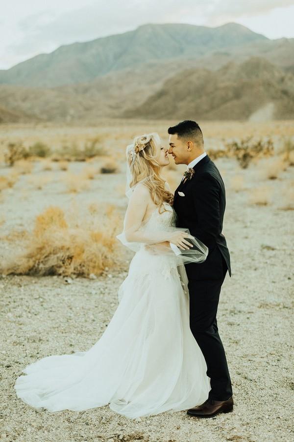 California desert wedding