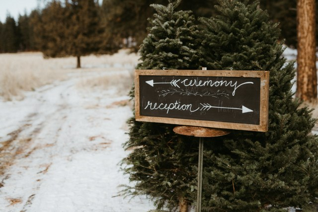 winter Oregon wedding