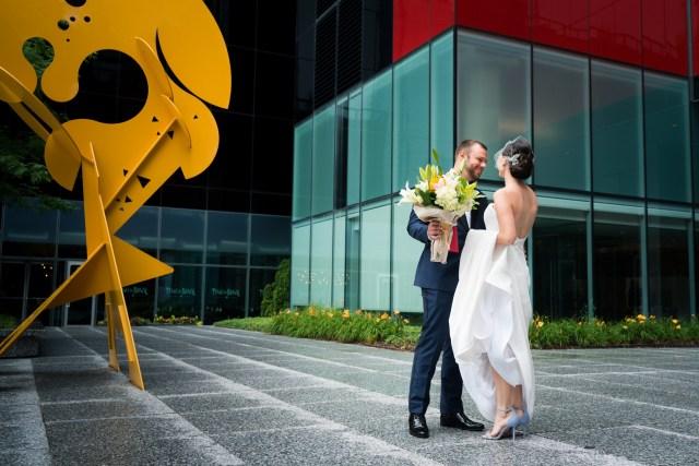 formal modern wedding