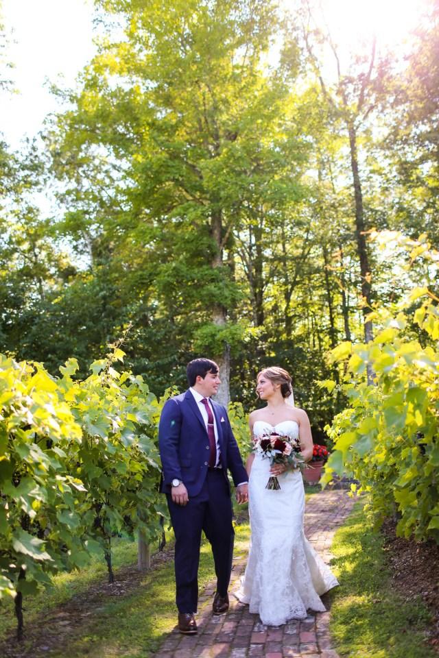 classic vineyard wedding