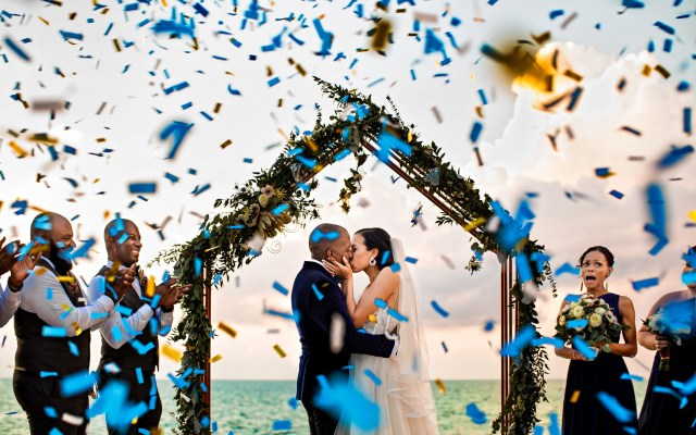 blue Jamaica wedding