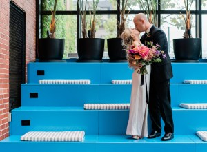 colorful modern wedding