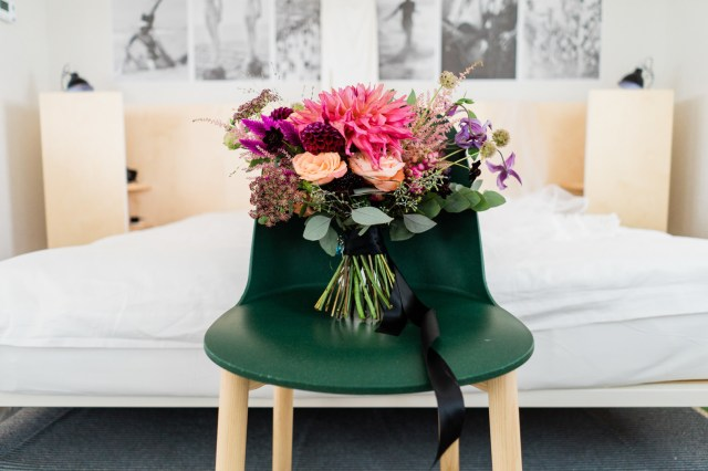 colorful modern wedding