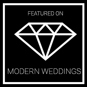 Featured on Modern Weddings badge