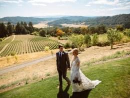 romantic winery wedding
