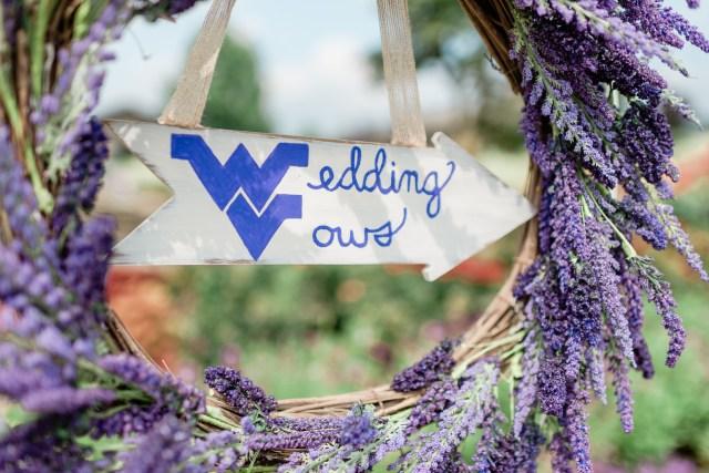 rustic lavender wedding