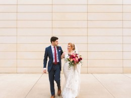 modern colorful wedding