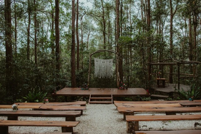 boho forest wedding
