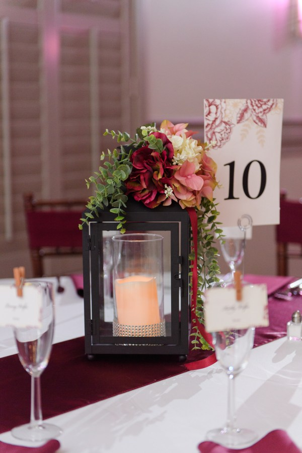 red romantic wedding