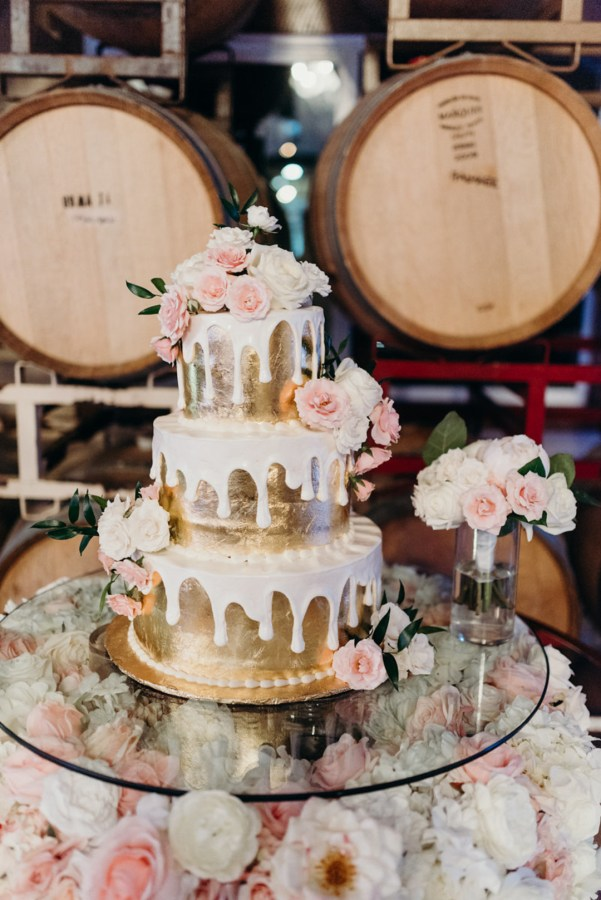 glam winery wedding