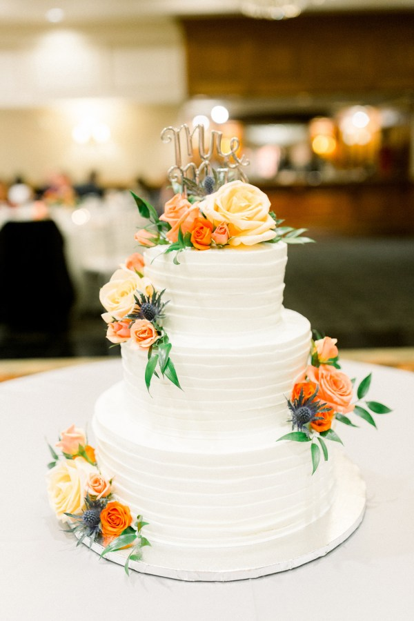 colorful fall wedding