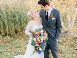 colorful fall wedding