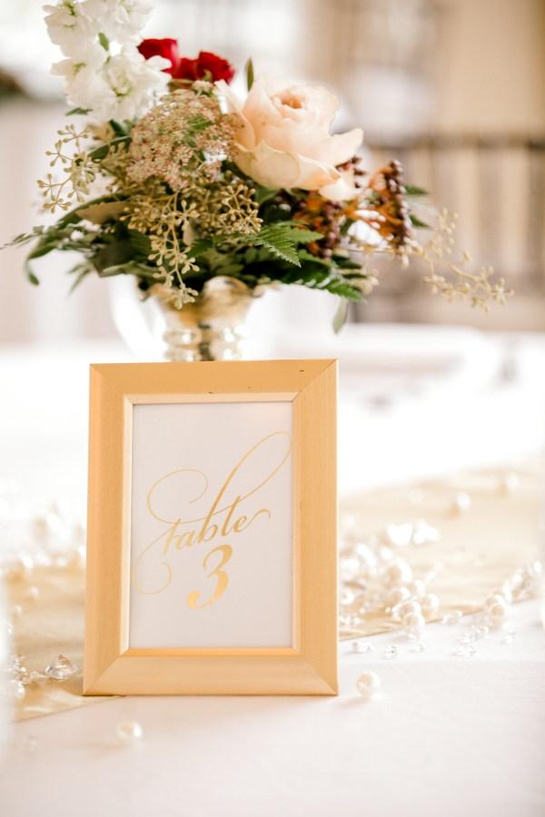 glittery Christmas wedding