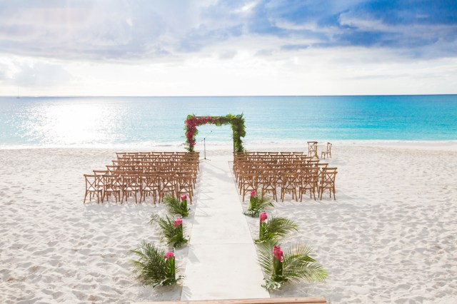 tropical white wedding