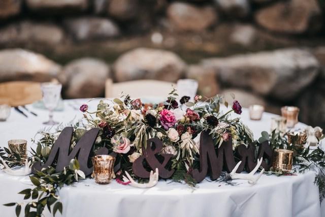 modern mountain wedding