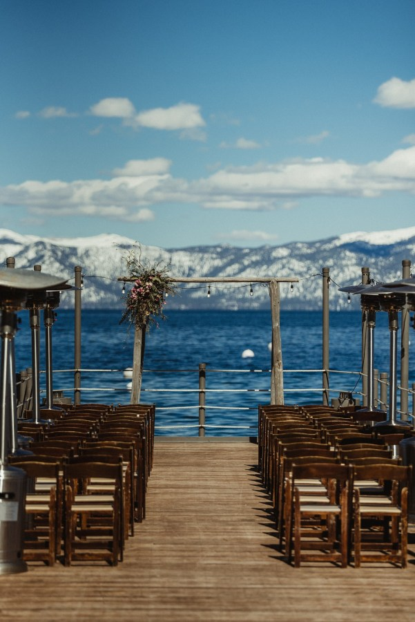 winter Lake Tahoe wedding