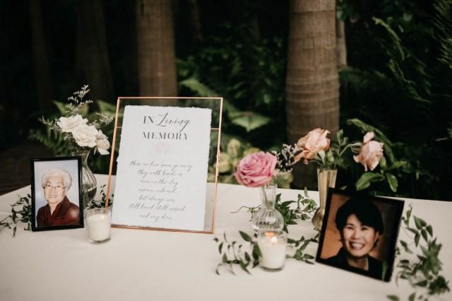 pink garden wedding