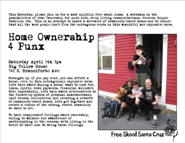 Homeownership for Punx