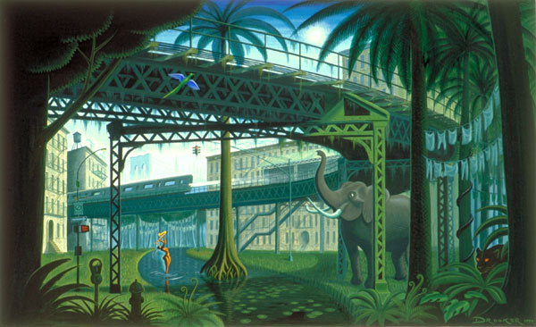 Artist Eric Drooker provided some of the evocative inspiration for Adventure Club