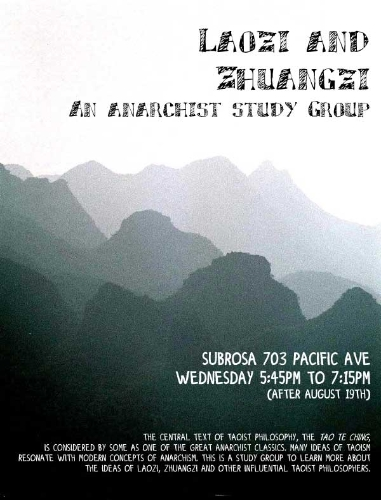 Laozi and Zhueangzi: an anarchist study group