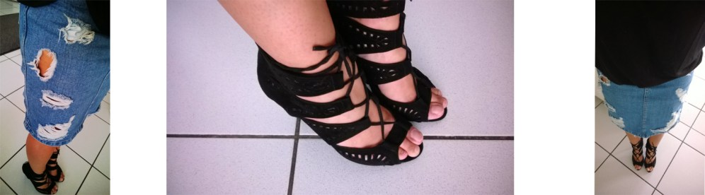 Zara Oufit Asos Blogger Distressed Jeans