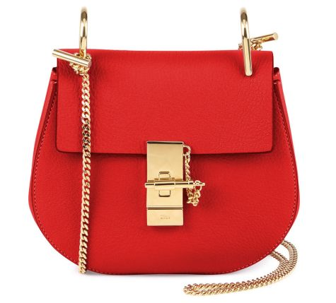 Chloe-Drew-Mini-Chain-Shoulder-Bag-in-Red