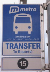 New transfer sign installed in 2012.