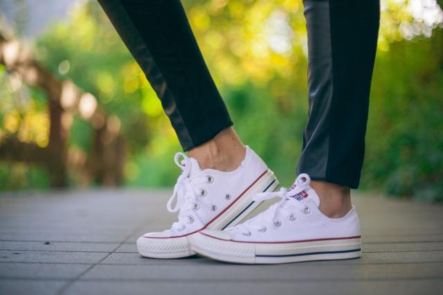 White Converse Shoes 1