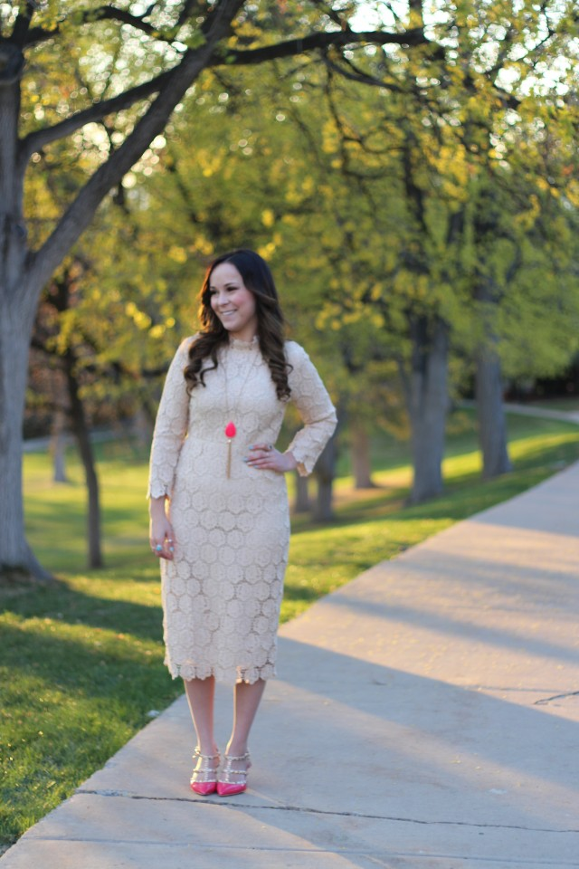 Cream Lace Dress 3