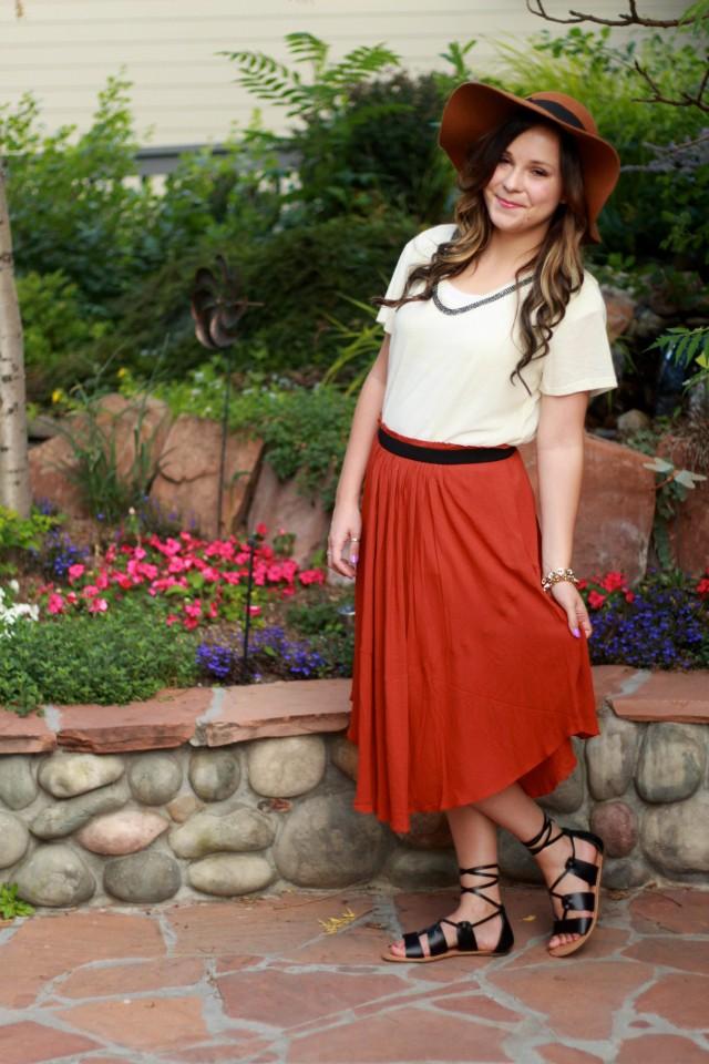 Rust skirt 3