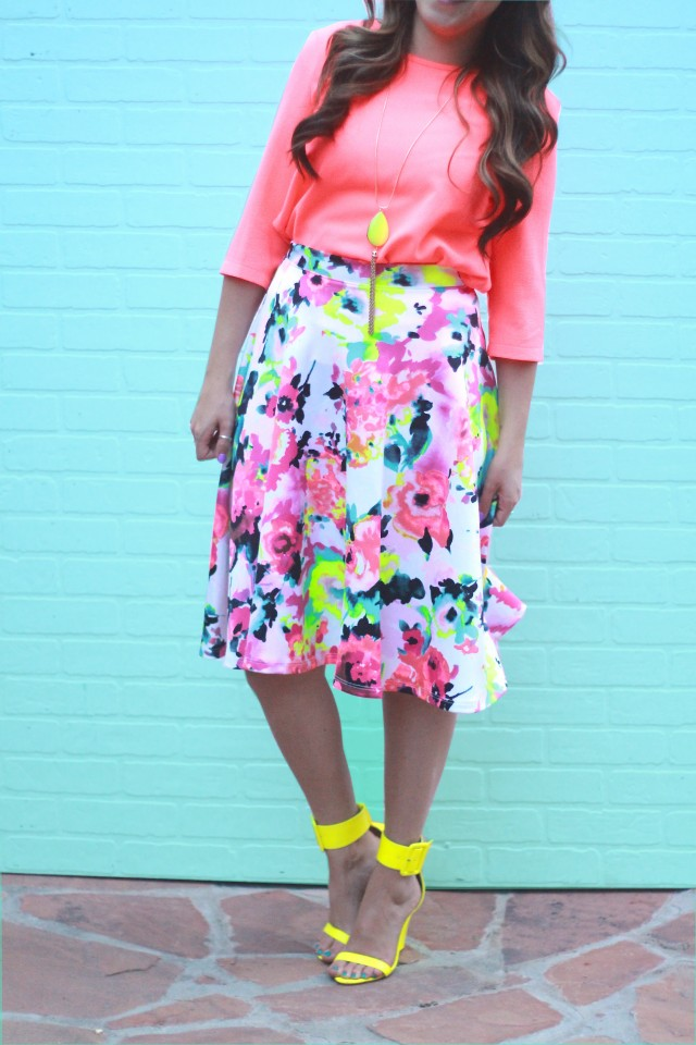 neon floral skirt 7