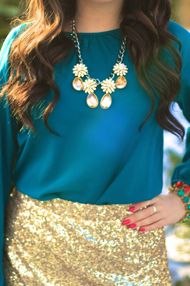 Gold Sequin Skirt 10