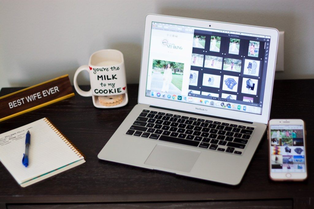what to do when kids are at school: modestly speaking blog workspace
