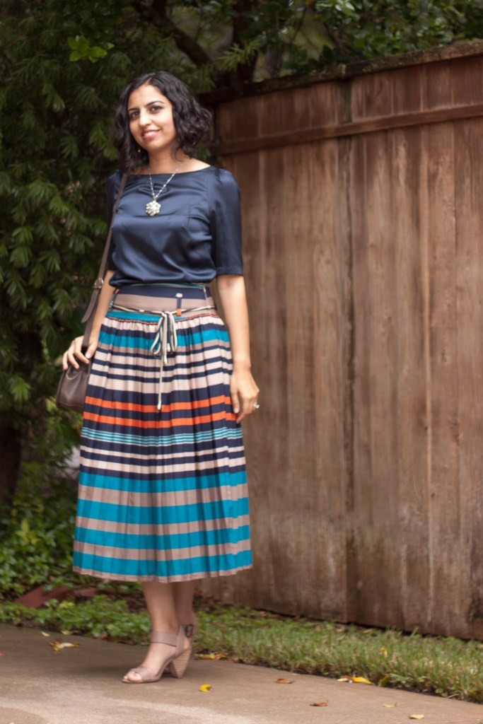 baby shower outfit pleated skirt