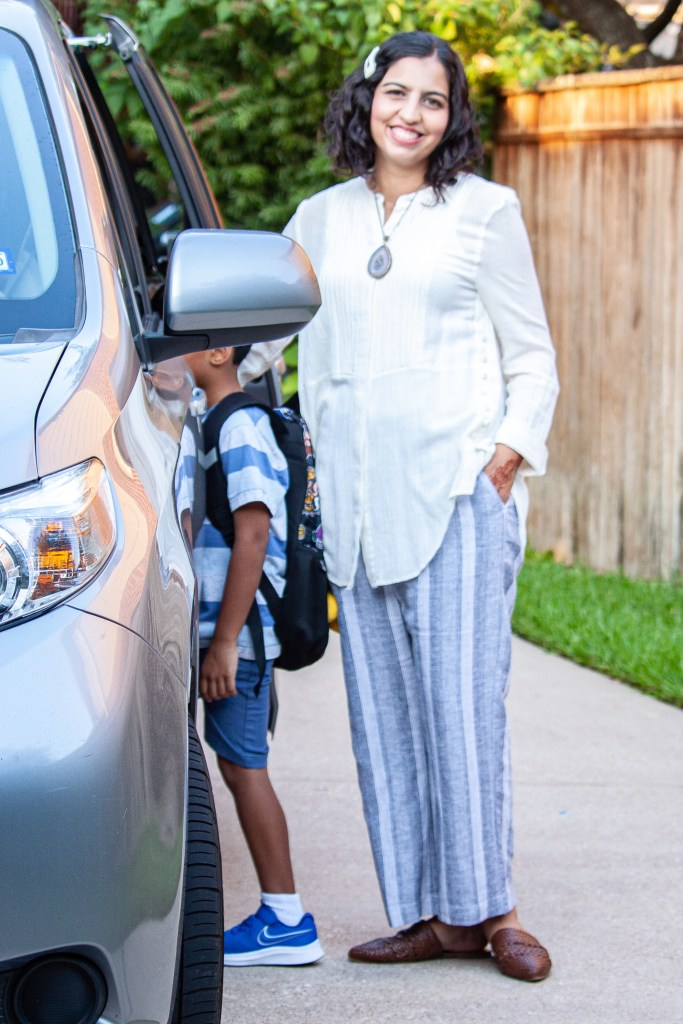 back to school fashion for moms linen pants