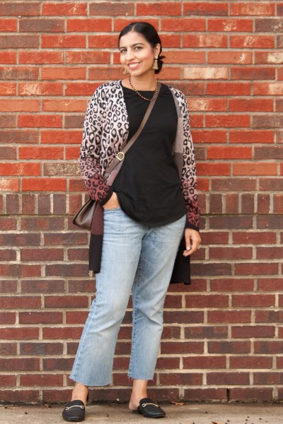 the perfect color for fall fashion berry leopard print sweater