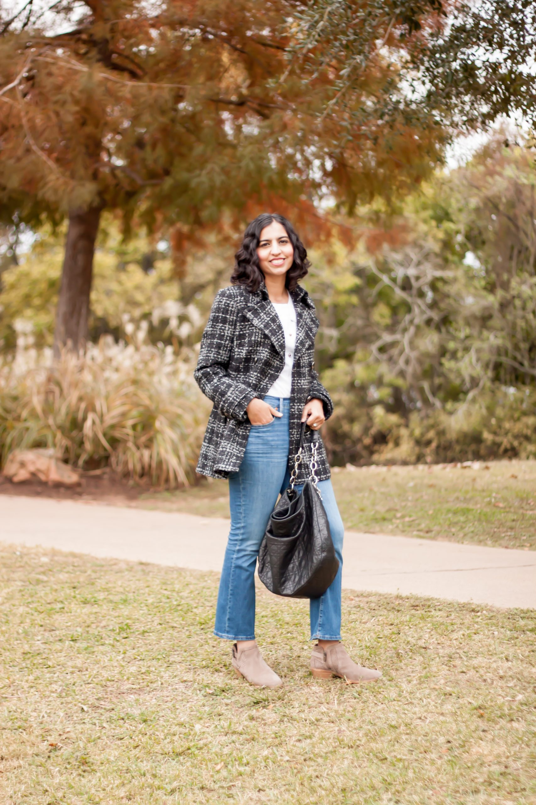 shopping second hand clothing plaid coat