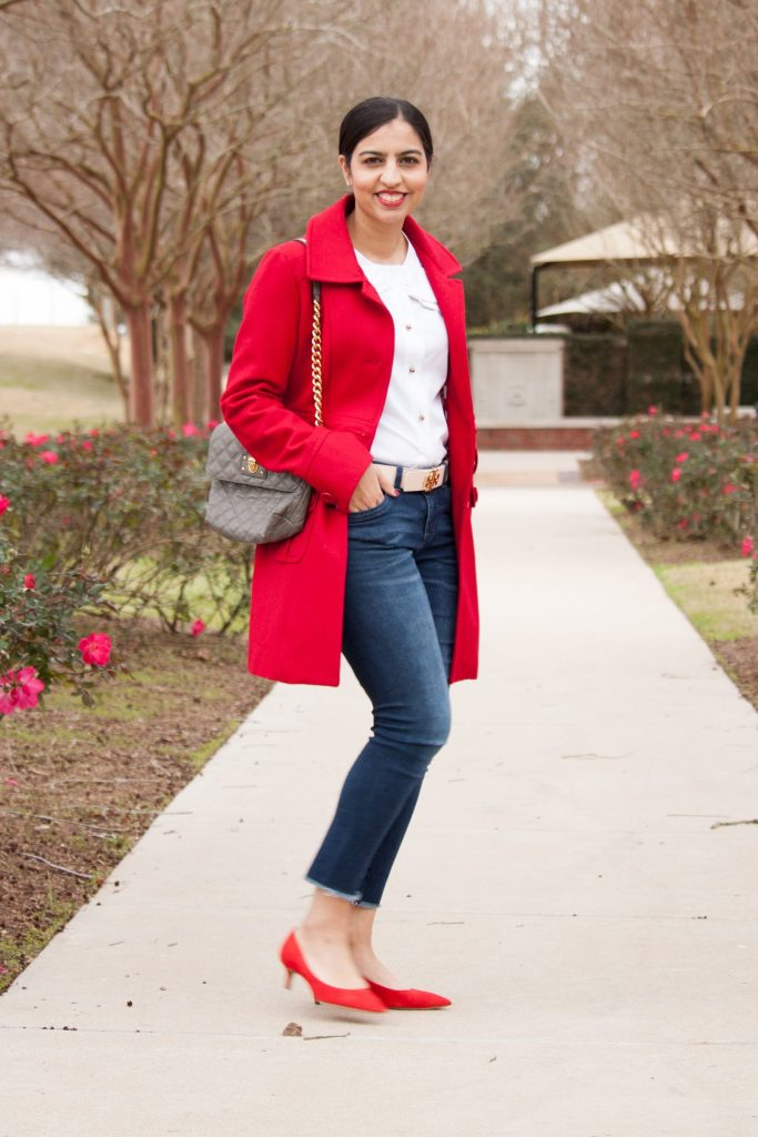 modest Valentine's day outfits classic red