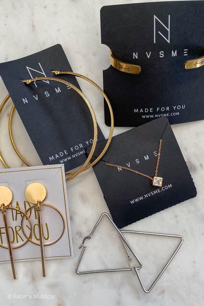 little BLK box by NVSME jewelry pieces