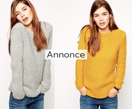 ASOS Jumper in Chunky Mohair Stitch