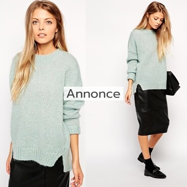 ASOS Oversize Boxy Jumper In Brushed Mohair