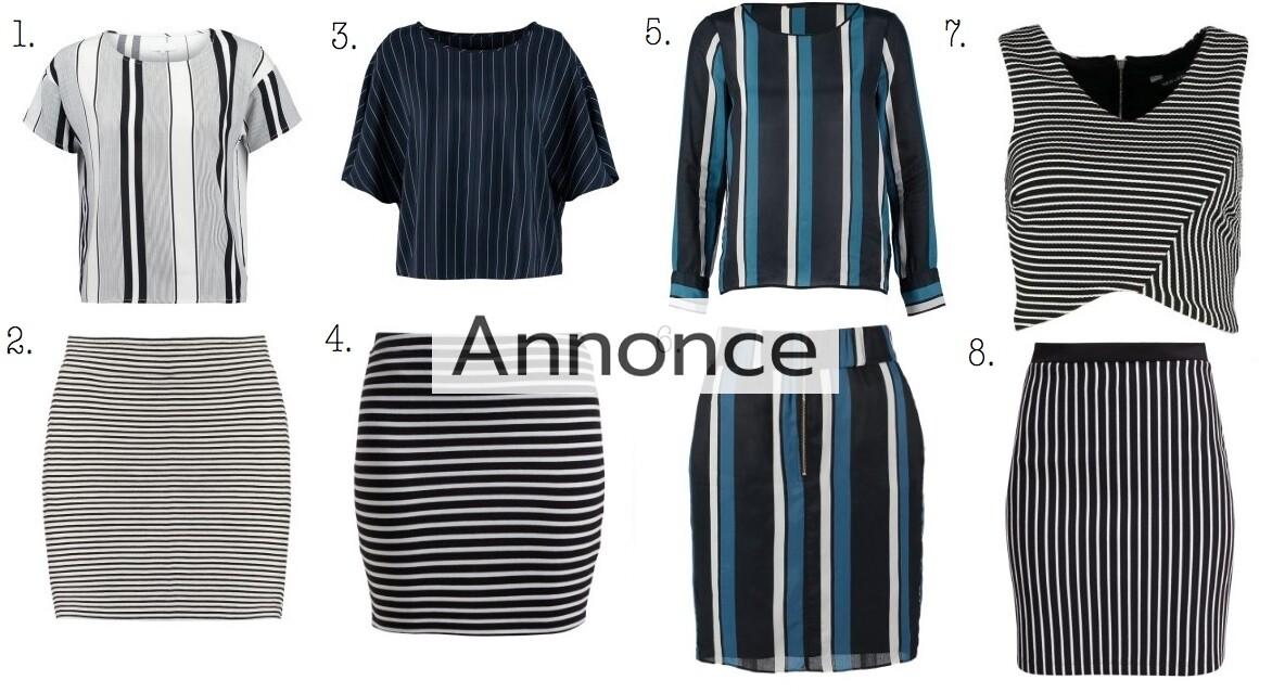 striber bluser kjoler nederdele shorts bukser pinstripe trend