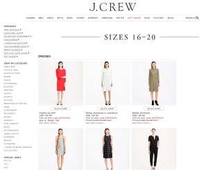 J Crew plus size mode XLusive