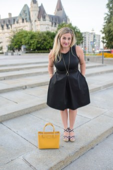 black-gap-dress-with-yellow-kate-spade