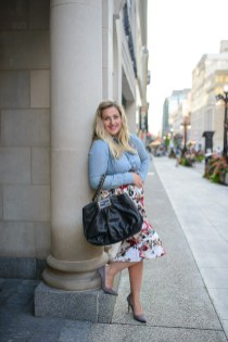 rachel-sin-foral-skirt-and-denim-blouse-with-black-fendi-bag