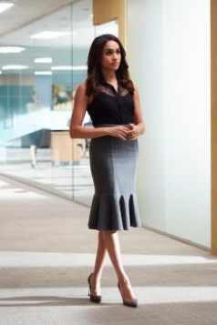 "SUITS -- ""Derailed"" Episode 414 -- Pictured: Meghan Markle as Rachel Zane -- (Photo by: Shane Mahood/USA Network)"